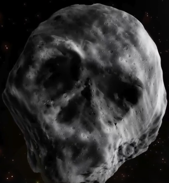 Human Skull Asteroid Sign of End Times