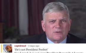 """He's Not President Perfect"" says Franklin Graham on Porn Star Affair"