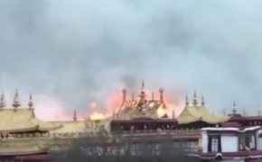 Fire Rips Through Jokhang Monastery in Tibet