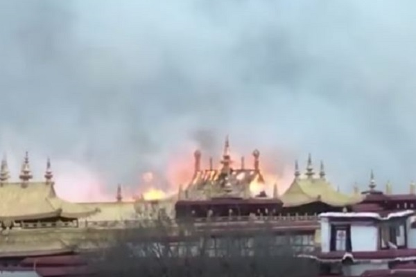 Fire at Jokhang Temple