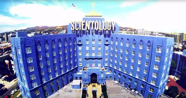 "The Scientology complex or Pacifica Bridge in Hollywood: ""What is Scientology?"" Super Bowl Ad 2018"