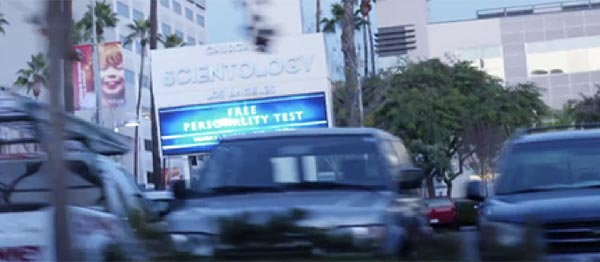 "Sign in front of the Church of Scientology Los Angeles on L. Ron Hubbard Way: ""What is Scientology?"" Super Bowl Ad 2018"