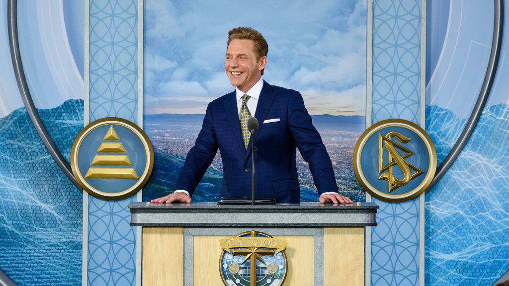Scientology leader David Miscavige at the Silicon Valley Church grand opening.