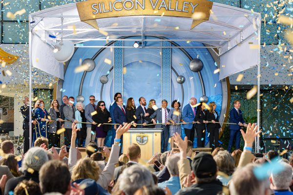 Silicon Valley Ribbon Pull, with Scientology leader David Miscavige and dignitaries.
