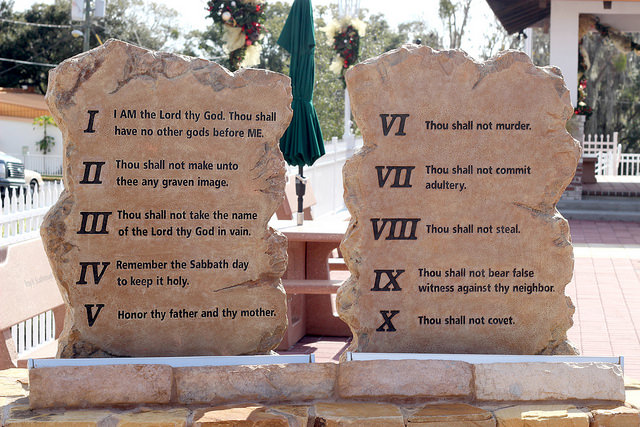 We Don't Take The 10 Commandments Seriously