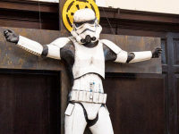 Crucified Stormtrooper Display at Church Causes Controversy