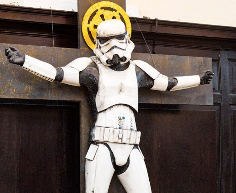 Stormtrooper Jesus Display at Church Causes Controversy