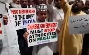 Muslims in India Protest China's Uighur Concentration Camps