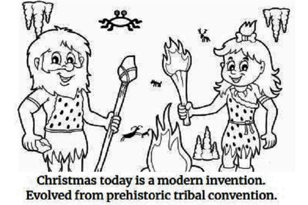 atheist christmas coloring book teaches how christmas was created through a melting pot of traditions and fairy tales