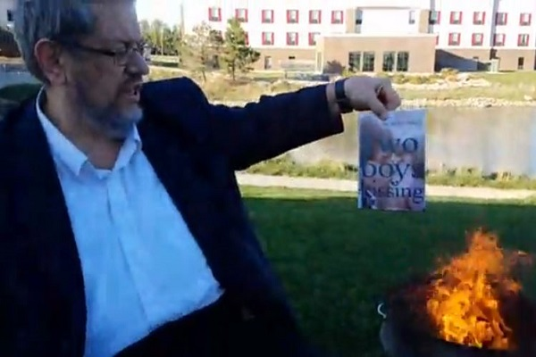 After Christian Burns $50 Worth of LGBTQ Library Books Atheist Raises Thousands to Replace Them