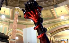 The Satanic Temple Installs Holiday Display at Illinois State Capitol