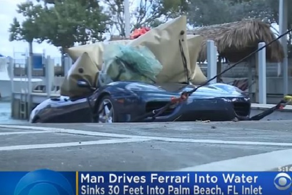Man Drove his Ferrari into a Lake Because Jesus Said a Police Officer is Egyptian