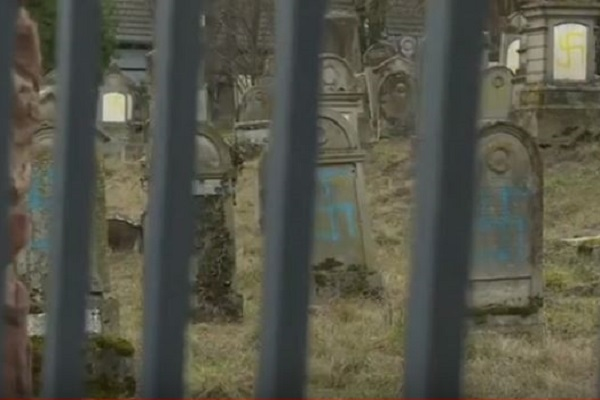Jewish Graves Desecrated with Swastikas in France