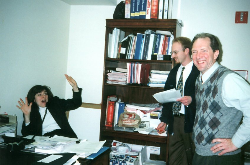 This was the day 20 years ago, when my dad showed up a week early to surprise the Executive Director of the DC church (seated) and tell her he was coming on board.
