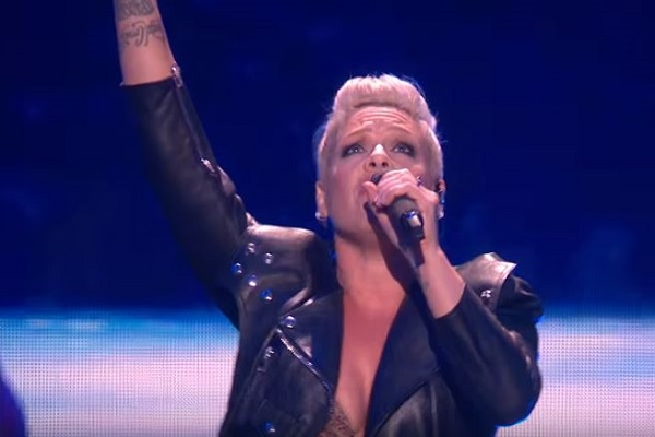 Pink Responds to Comments Photo of Her Kids Running in the Holocaust Memorial