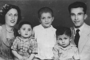 The Aminian family in Tehran, Iran, circa 1954. (Photo courtesy Mahmoud Aminian)