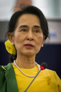 Myanmar leader Aung San Suu Kyi, photo by Claude Truong-Ngoc CC