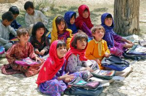 Muslim children in Afghanistan