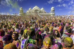 Holi Festival Sri Radha Krishna Temple in Spanish Fork Utah Photo By Steven Gerner - Wikimedia Commons